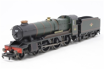 R2211-PO02 County Class 4-6-0 'County Of Monmouth' 1020 in BR Green - Pre-owned - Noisy runner - Imperfect box