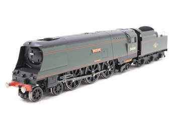 "R2218-PO16 Streamlined West Country Class 4-6-2 34041 ""Wilton"" in BR Green - Pre-owned - missing coal load from tender, missing steps"