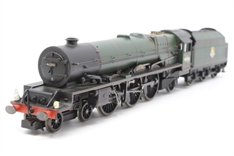"""R2226-PO09 Princess Class 4-6-2 46206 """"Princess Marie Louise"""" in BR Green - Pre-owned - renumbered - glue marks on cab sides and nameplates - detailed with crew & lamps (one damaged) - one loose tender pickup wire"""