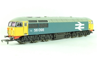 R2235E Class 56 56098 in BR Blue with large logo