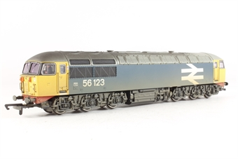 R2253 Class 56 56123 in BR blue with large logo and number (weathered)