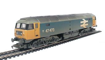 R2254B Class 47 47473 in BR blue with large logo (weathered)
