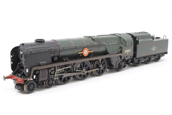 "R2268-PO02 Merchant Navy 4-6-2 35027 ""Port Line"" in BR green - Pre-owned - DCC fitted- missing steps on tender- imperfect box"
