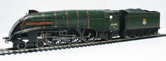 """R2277 Class A4 4-6-2 60008 """"Dwight D Eisenhower"""" & tender in BR green - Live Steam powered £225"""