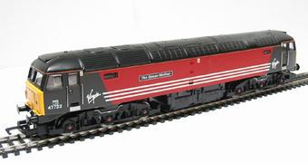 R2289D Class 47 47722 'The Queen Mother' in Virgin Red