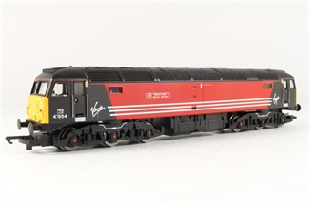 R2289G Class 47 47854 'Womens Royal Voluntary Service' in Virgin Livery