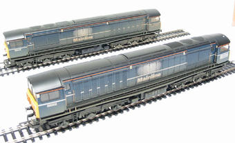 R2336 Class 58 Double Pack (1 a dummy) in Mainline blue (weathered)