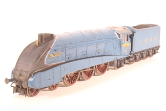 "R2339-PO10 Class A4 4-6-2 4903 ""Peregrine"" in LNER Blue - Pre-owned - Renumbered, poor runner due to part of valve gear being loose, weathered, missing coal load, missing coupling and NEM Socket, imperfect box"