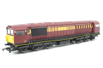 R2346-PO01 Class 58 58033 in EWS livery - Pre-owned -  imperfect box