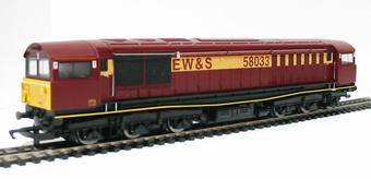 R2346 Class 58 58033 in EWS livery