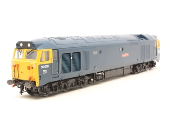 R2348-PO06 Class 50 50018 'Resolution' in BR blue - Pre-owned - missing buffer - imperfect box
