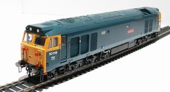 R2348 Class 50 50018 'Resolution' in BR blue