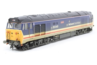 R2350-PO05 Class 50 50045 'Achilles' in revised Network South East livery (weathered) - Pre-owned - Like new
