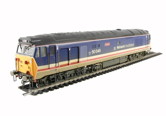 R2350 Class 50 50045 'Achilles' in revised Network South East livery (weathered)