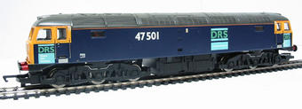 R2353 Class 47 47501 in DRS dark blue livery
