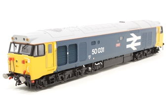 R2374-PO03 Class 50 50031 'Hood' in BR blue with large logo & number - Pre-owned - Missing one foot step