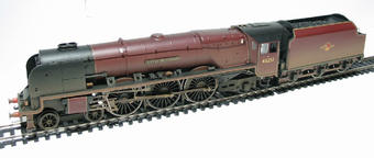 """R2383 Duchess class 4-6-2 46251 """"City Of Nottingham"""" in BR Maroon (weathered)"""
