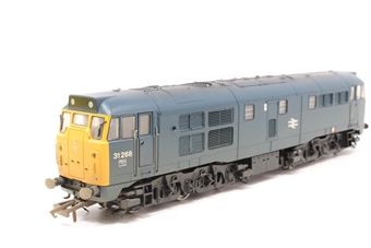 R2413B-PO04 Class 31 31268 in BR blue (weathered) - Pre-owned - DCC fitted - lights only working in one direction - imperfect box