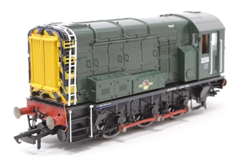 R2417-PO08 Class 08 Shunter 3256 in BR green livery - Pre-owned - DCC fitted, Body loose from chassis, one buffer loose, damage to ladders, missing cab glazing, missing one cabside foot ladder