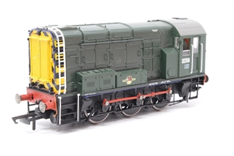 R2417-PO15 Class 08 Shunter 3256 in BR green livery - Pre-owned - missing coupling - imperfect box