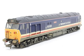 R2429-PO07 Class 50 50002 'Superb' in Revised Network South East Livery (weathered) - Pre-owned - DCC sound fitted - missing jumper box from one end - missing coupling