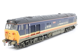 R2429-PO10 Class 50 50002 'Superb' in Revised Network South East Livery (weathered) - Pre-owned - missing couplings-  imperfect box