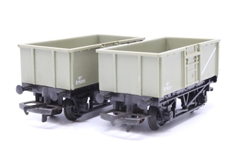 R243-PO08 Pair of B.R Mineral Wagons B75201 - Pre-owned - sold as seen - minor marks - some corrosion on couplings & axles - rep,acement box