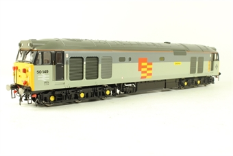 R2434 Class 50 50149 'Defiance' in Railfreight Triple Grey - limited edition for Rail Express magazine
