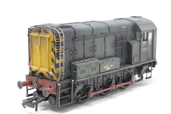 R2438-PO05 Class 08 Shunter D3987 in BR green livery - Pre-owned - DCC Fitted - professionally weathered & renumbered