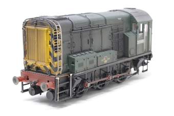 R2438-PO06 Class 08 Shunter D3986 in BR green livery - Pre-owned - DCC fitted - professionally weathered