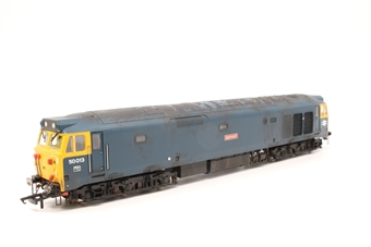 R2486-PO05 Class 50 50013 'Agincourt' in early BR blue livery - Pre-owned - weathered - missing coupling- imperfect box