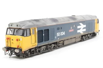 R2487-PO04 Class 50 50004 'St. Vincent' in BR large logo livery - Pre-owned - weathered, missing couplings, imperfect box