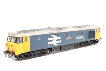 R2487-PO05 Class 50 50004 'St. Vincent' in BR large logo livery - Pre-owned - weathered - missing coupling- imperfect box