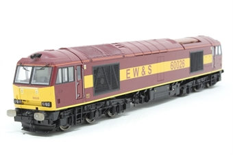 R2488-PO04 Class 60 60026 in EWS livery - Pre-owned - missing couplings - imperfect box