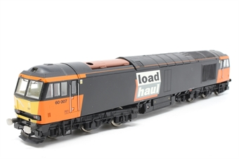 R2489-PO07 Class 60 60007 in Loadhaul livery - Pre-owned - loose rail on front of cab - imperfect box