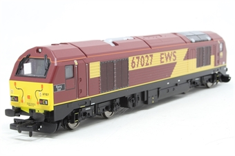 """R2522-PO02 Class 67 67027 """"Rising Star"""" in EWS maroon - Pre-owned - Like new"""