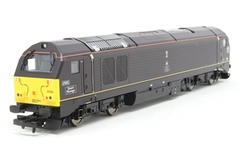 """R2523-PO11 Class 67 67005 """"Queens Messenger"""" in Royal Train livery - Pre-owned - Like new"""