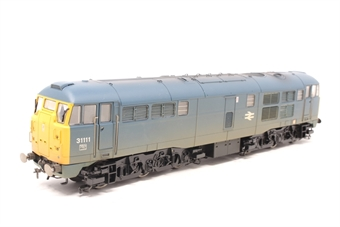 R2571-PO04 Class 31 31111 in BR blue (weathered) - Pre-owned - poor noisy runner