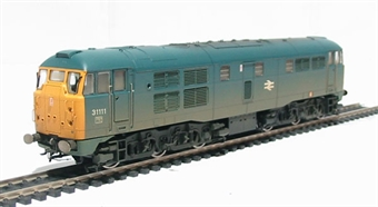 R2571 Class 31 31111 in BR blue (weathered)