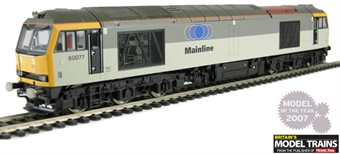 "R2577 Class 60 60077 ""Canisp"" in 2 tone railfreight sub-sector grey with Mainline branding"