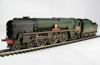 """R2584 Rebuilt West Country Class 4-6-2 34003 """"Plymouth"""" in BR Green"""