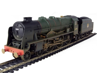 """R2629 Royal Scot Class 4-6-0 46140 """"The Kings Royal Rifle Corps"""" in BR Green early crest (weathered)"""