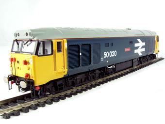 R2641 Class 50 50020 'Revenge' in BR blue large logo & arrows