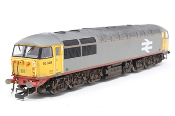 R2646-PO01 Class 56 56049 BR Railfreight red stripe livery (1987)  - Pre-owned - DCC Sound-fitted- weathered- imperfect box,