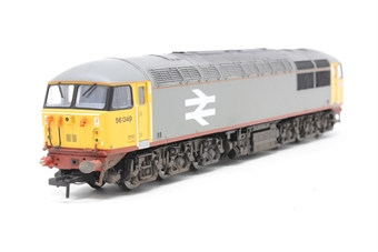R2646-PO02 Class 56 56049 BR Railfreight red stripe livery (1987) DCC ready - Pre-owned - Missing 2 buffers - DCC sound fitter - imperfect box