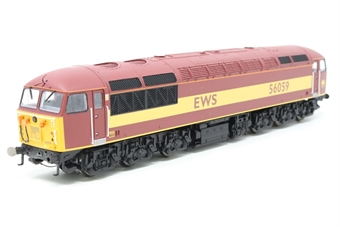R2648-PO08 Class 56 56059 in EWS Livery - Pre-owned - missing a coupling hook and 2 buffers