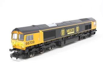 R2650-PO07 Class 66 66709 'Joseph Arnold Davies' in Medite livery - Pre-owned - Like new, imperfect box