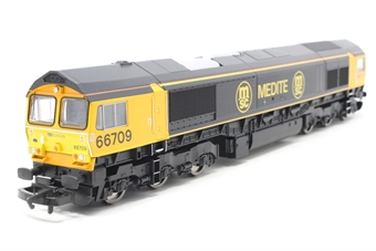 R2650-PO08 Class 66 66709 'Joseph Arnold Davies' in Medite livery - Pre-owned - Like new, imperfect box