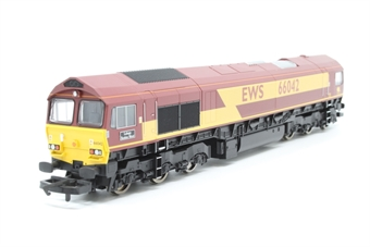 R2651-PO04 Class 66 66042 'Lafarge Buddon Wood' in EWS livery - Pre-owned - DCC fitted - imperfect box