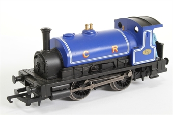 R2672-HX01 Class 0F Pug 0-4-0ST 272 in Caledonian Railway blue - Railroad range - Pre-owned - DCC fitted - Detailed with crew - replacement box
